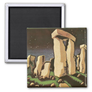 Retro vintageSci Fi historia 'Stonehenge Magnet