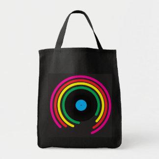 Retro vinyl tote bag