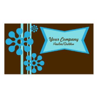 Retro visitkort för brunt och för blått