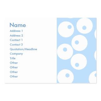 Retro vit och tänder - blåttmodellen set av breda visitkort