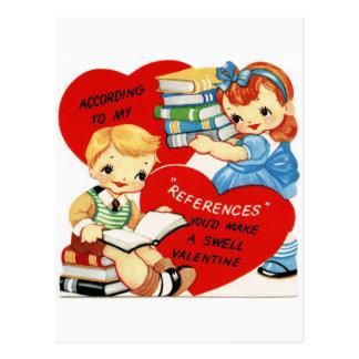 Retro vykort för roligt för vintagevalentinbok