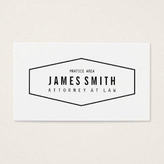 Retro yrkesmässig advokat visitkort