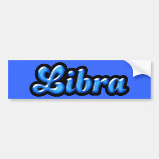 Retro ZodiacLibra Bildekal