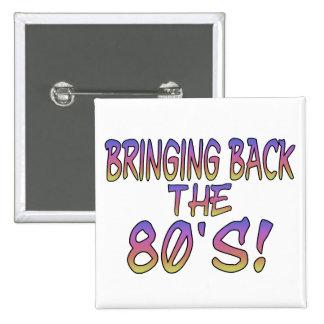 Retur av 80-tal knapp med nål