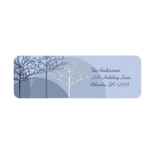 Returadress för 3 blåttträd returadress etikett