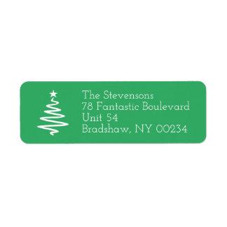 Returadress för julgranfamiljhelgdag returadress etikett