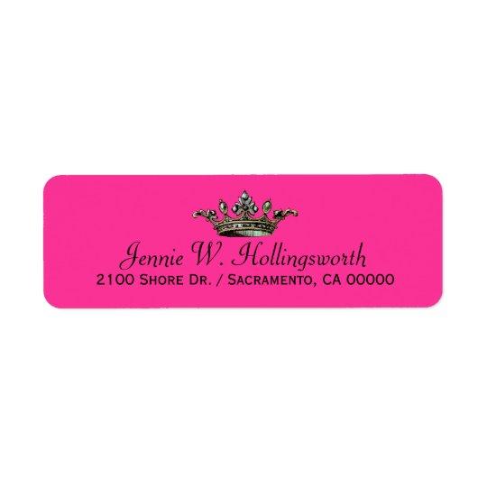 Returadress för kronarosor flickaktigt returadress etikett