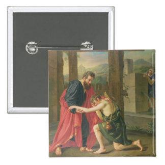 Returen av den Prodigal sonen, 1823 (olja i canva Standard Kanpp Fyrkantig 5.1 Cm
