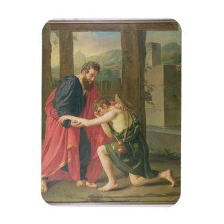 Returen av den Prodigal sonen, 1823 (olja i canva Flexibel Magnet