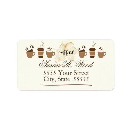 Returetiketter för auktoriseradkaffeälskare adressetikett