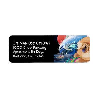 Returetiketter för BINDI CHOWABUNGA- skräddarsy Returadress Etikett