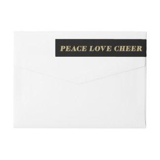 Returetiketter för helgdag för fredkärlekjubel   etikettband