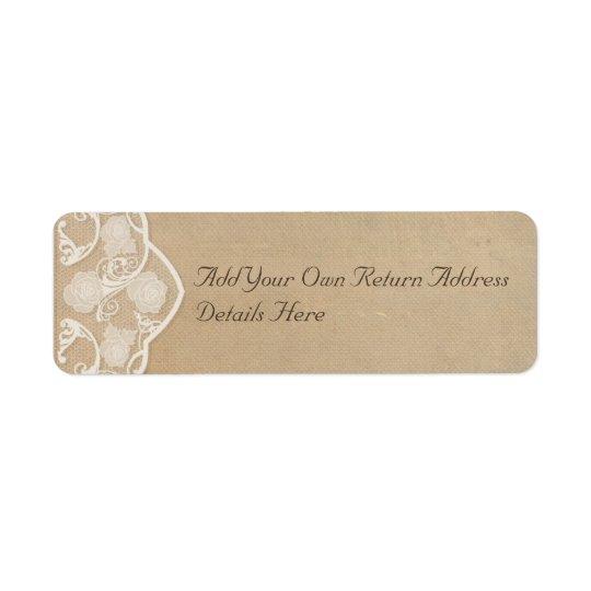 Returetiketter för vintagekanfas- och snöreLook Returadress Etikett