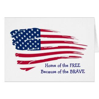 Returnera av det fritt vågigt flagga hälsningskort