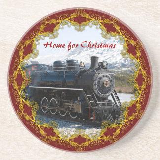 Returnera på tåg för julunderlägg underlägg sandsten