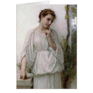 Reverie - William-Adolphe Bouguereau Hälsningskort