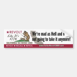 Revoltet lik 1776-We är tokig som helvetebildekal Bildekal