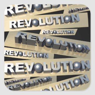 Revolution Fyrkantigt Klistermärke