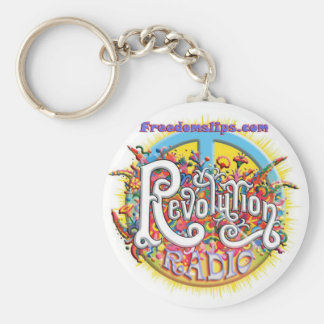 revolutionpeace rund nyckelring