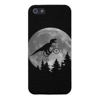 Rex för biker t i himmel med måne80-talparodi iPhone 5 cover