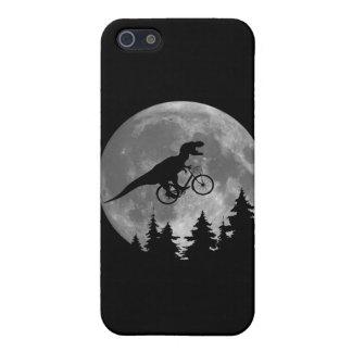 Rex för biker t i himmel med måne80-talparodi iPhone 5 skal