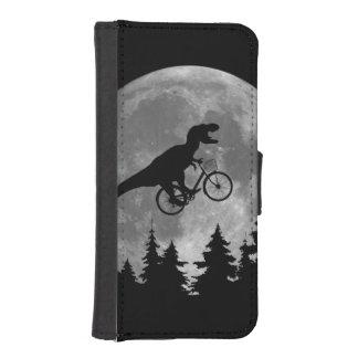 Rex för biker t i himmel med måne80-talparodi plånboksfodral för iPhone SE/5/5s