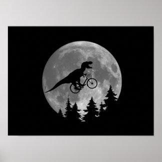 Rex för biker t i himmel med måne80-talparodi poster