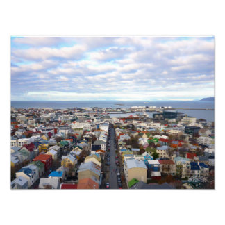 Reykjavik Cityscape //Reykjavik, island Fototryck