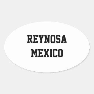 Reynosa Mexico ovalklistermärkear Ovalt Klistermärke