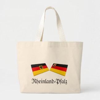 Rheinland-Pfalz Tysklandflagga belägger med tegel Tygkassar