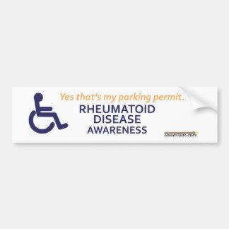Rheumatoid sjukdom för rullstol bildekal