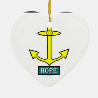 Rhode - öhopp ankrar hjärtformad julgransprydnad i keramik