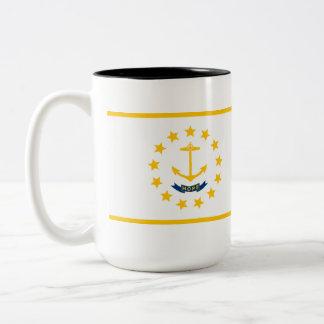 Rhode - östatlig flagga Två-Tonad mugg
