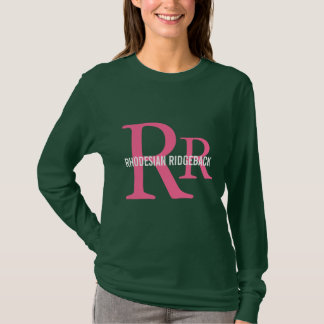 Rhodesian Ridgeback avelMonogram Tshirts