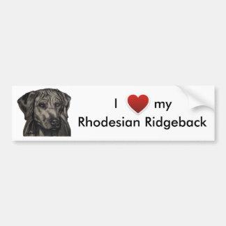 Rhodesian Ridgeback hundkonst - zulu Bildekal