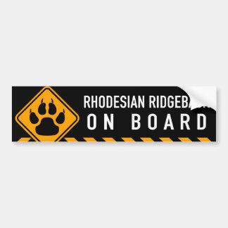 Rhodesian Ridgeback ombord Bildekal