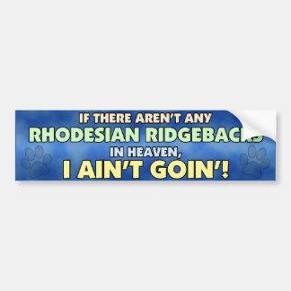 Rhodesian Ridgebacks i himmelbildekal Bildekal