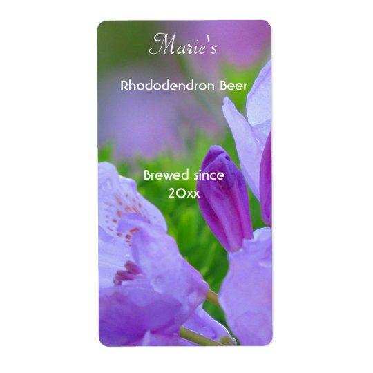 Rhododendron efter regnaöletiketterna fraktsedel
