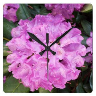 rhododendron tar tid på fyrkantig klocka