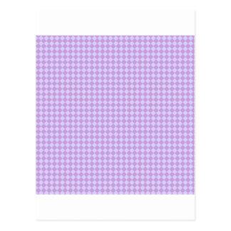 Rhombuses - wisteria- och bleklavendel vykort