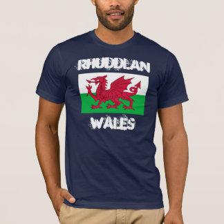 Rhuddlan Wales med walesisk flagga T Shirt