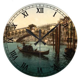 Rialto överbryggar I, Venedig, italien Stor Klocka