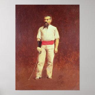 Richard Burton i fäktningklänningen, 1889 Poster