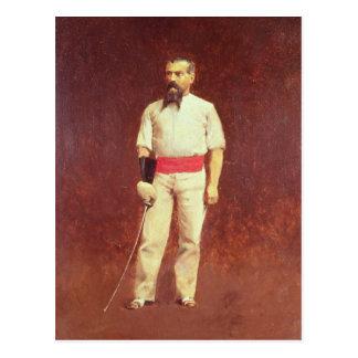 Richard Burton i fäktningklänningen, 1889 Vykort