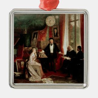 Richard Wagner med Franz Liszt och Liszts daught Julgransprydnad Metall