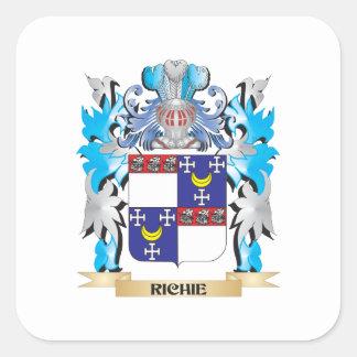 Richie vapensköld - familjvapensköld fyrkantigt klistermärke