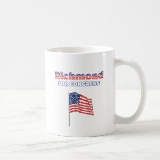 Richmond för patriotisk amerikanska flaggan för kaffemugg