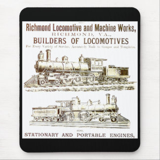Richmond lokomotiv- och järnvägarbeten musmatta