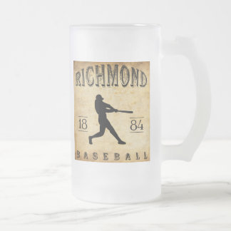 Richmond Virginia baseball 1884 Frostad Glas Mugg