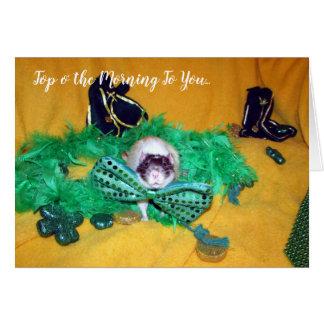 Rickman (älsklings- råtta) St Patrick dagkort Hälsningskort